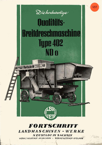 Breitdreschmaschine Type 402